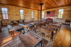 Interior Of The Historic One room School In Dothan  Alabama     Interior of the historic one room School in Dothan  Alabama Royalty Free  Stock Photos