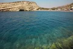 Matala Crete Greece Stock Image Image Of Landscape