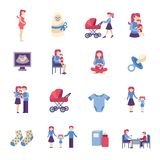 Pregnancy And Motherhood Icons Royalty Free Stock Photos Image 24534398