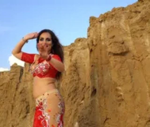Oriental Beauty Dancing Belly Dance Outdoors Stock Video Footage