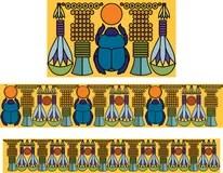 Egiziano Dio Horus Con La Regina Cleopatra Illustrazione
