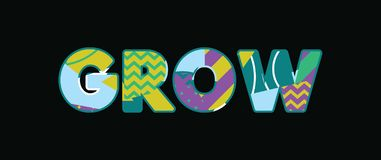 Download Grow Word Art stock illustration. Illustration of spring ...