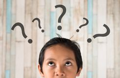 Boy with question stock vector. Illustration of contour ...