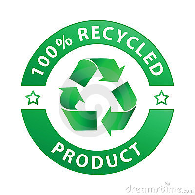 100 Recycled Product Label Vector Royalty Free Stock