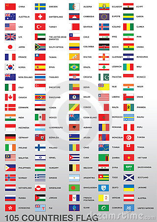 Different Country Flags Stock Images - Image: 17615804