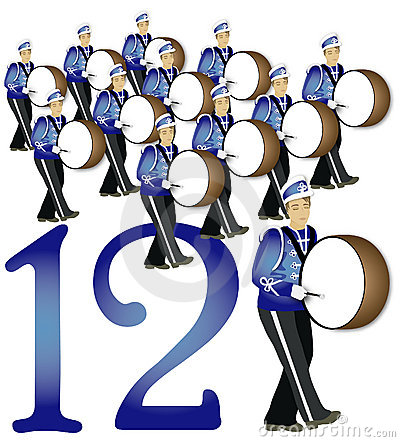 12 Days Of Christmas 12 Drummers Drumming Royalty Free