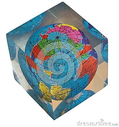 Acrylic World Globe Royalty Free Stock Image Image 23319416