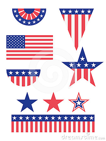American Flag Decorations Stock Images Image 24523904