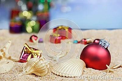 Beach Christmas Decorations Stock Image Image 20632211