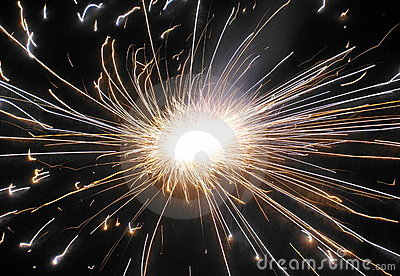 Beautiful firework during Diwali in India.