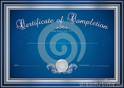 Blue Certificate Diploma Background Template Royalty Free Stock Images Image 31570129