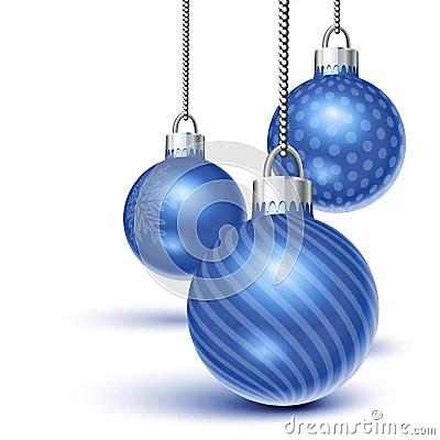 Blue Christmas Ornaments Stock Photo Image 15702930