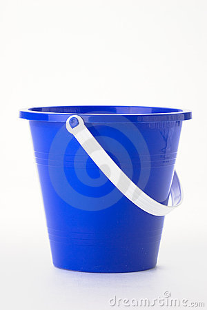 Blue Pail Royalty Free Stock Images Image 2209679