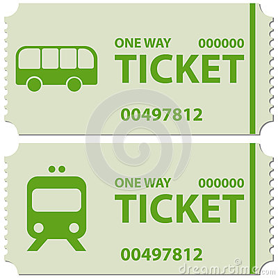 Bus And Train Tickets Stock Photo Image 44354581