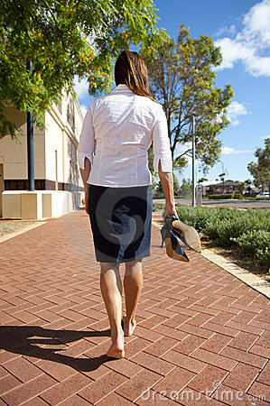 Business Woman Bare Feet Royalty Free Stock Photo Image