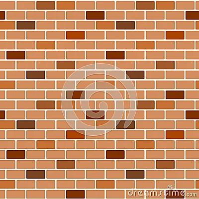 Cartoon Brown Wall Brick Seamless Pattern Background