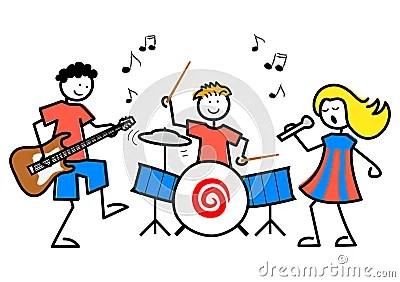 Cartoon Kids Musiceps Stock Image Image 18889831