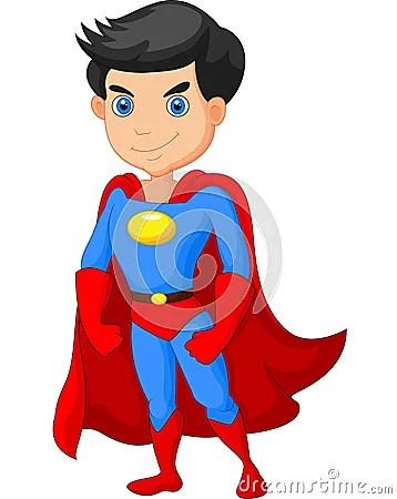 Cartoon Super Hero Boy Posing Stock Vector Image 52776927