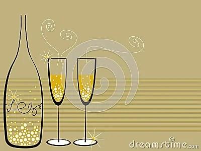 Champagne Bubbles Celebration Royalty Free Stock Photo