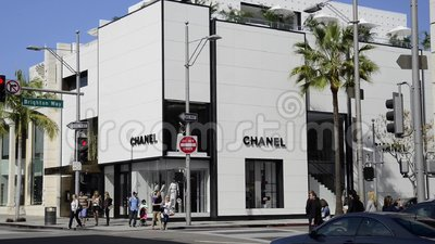 Chanel Store At Rodeo Drive Stock Video Footage Video Of