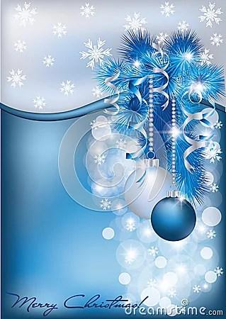Christmas Blue Silver Card Stock Image Image 27196631