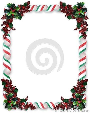 Christmas Border Ribbon Candy Stock Image Image 7512301