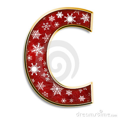 Christmas Letter C In Red Stock Photo Image 6138100