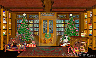 Christmas Scene Royalty Free Stock Image Image 3412276