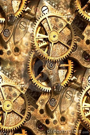 Clockwork Gears Abstract Stock Photography