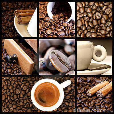 Coffee Collage Stock Photo Image 13379150