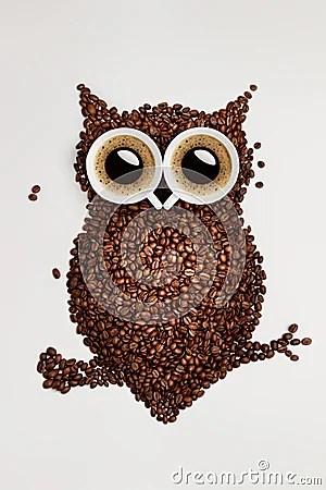 Coffee Owl Stock Photos Image 37034873