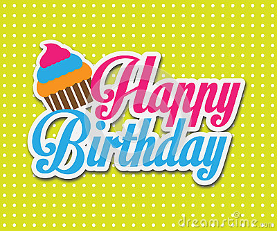 Colorful Happy Birthday Card Vector Illustration Design