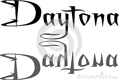 Daytona text sign illustration