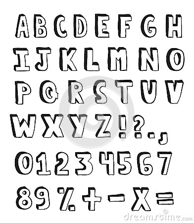 Doodle Alphabet Royalty Free Stock Image Image 26576476