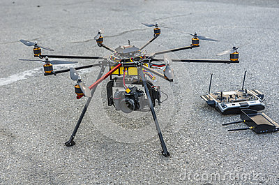 Drone On The Ground Editorial Image - Image: 49382610