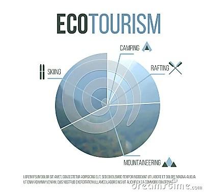 Eco Tourism Graph Stock Vector Image 43740512