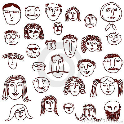 Faces Doodles Stock Photography Image 12933232