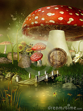 Fairytale Mushroom House Royalty Free Stock Photos Image