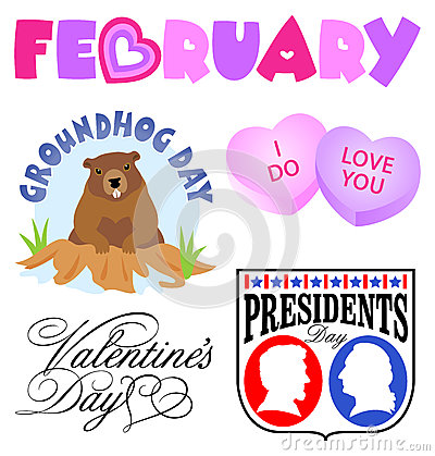 February Events Clip Art Set/eps Stock Photography - Image ...