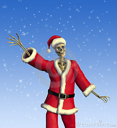 Friendly Skeleton Santa Royalty Free Stock Photo Image