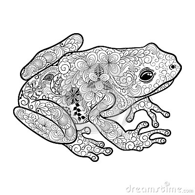 Frog Doodle Stock Vector Image 65958443