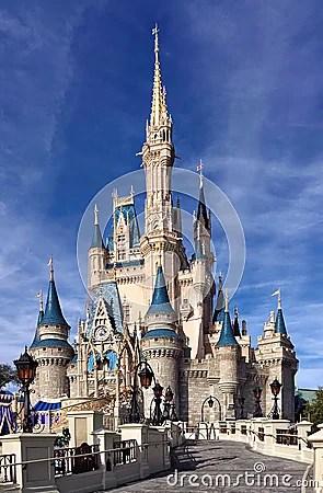 Front View Of Cinderella Castle At Walt Disney World