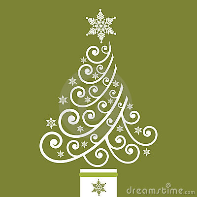 Funky Coil Christmas Tree Royalty Free Stock Photo Image