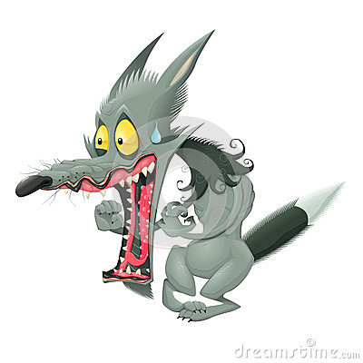 Funny Wolf Stock Vector Image 41908258