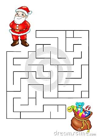 Gioco 67 Labirinto Di Natale Fotografie Stock Libere Da