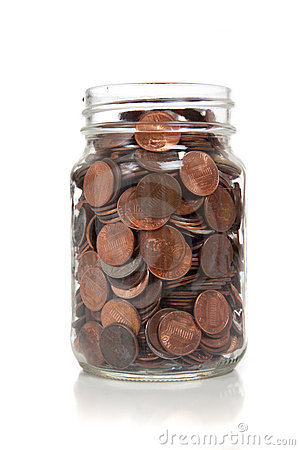 Glass Jar Full Of Coins Stock Photo Image 11373680