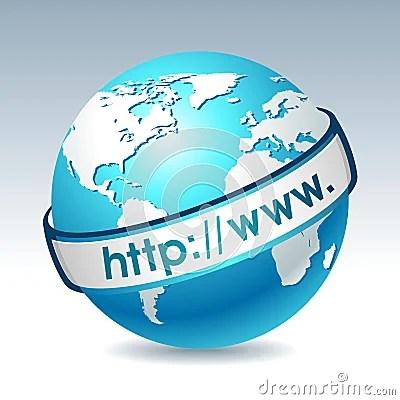Globe avec l internet address
