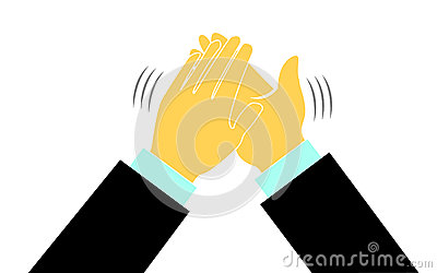 Hands In A Applause Logo Stock Photos Image 31698143