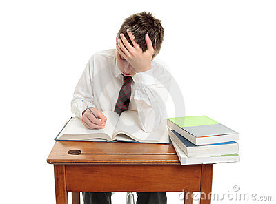 High School Student At Desk Royalty Free Stock Photography