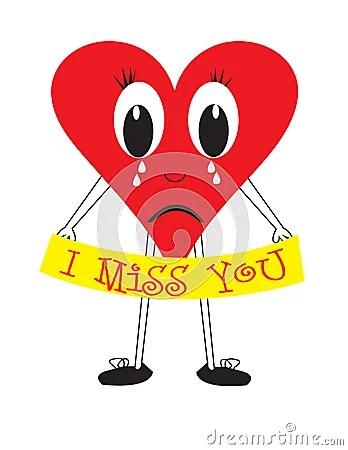I Miss You Heart Stock Photos Image 7389543